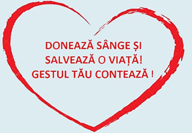 Spitalul Clinic Judeţean de Urgenţă Sibiu solicită sprijinul populaţiei în vederea DONĂRII DE SÂNGE