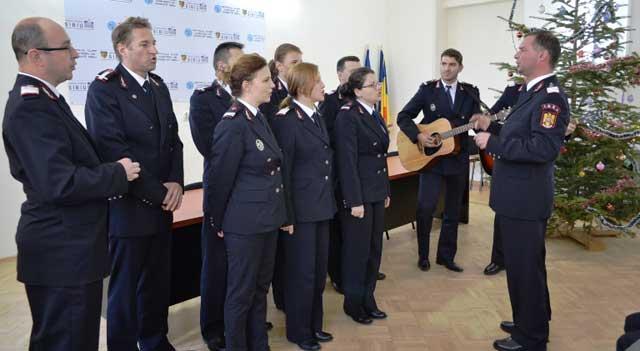 SCJU Sibiu a primit colindători de la Inspectoratul pentru Situaţii de Urgenţă şi Facultatea de Teologie din Sibiu