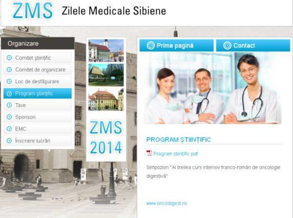 Medicii SCJU Sibiu participă la Zilele Medicale Sibiene