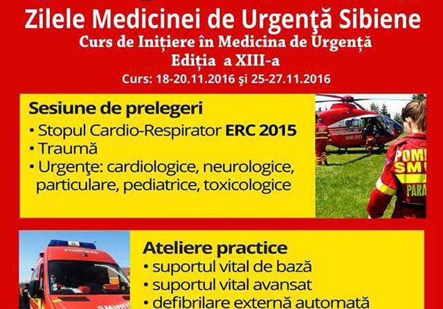 Zilele Medicinei de Urgență Sibiene, la a XIII – a ediție