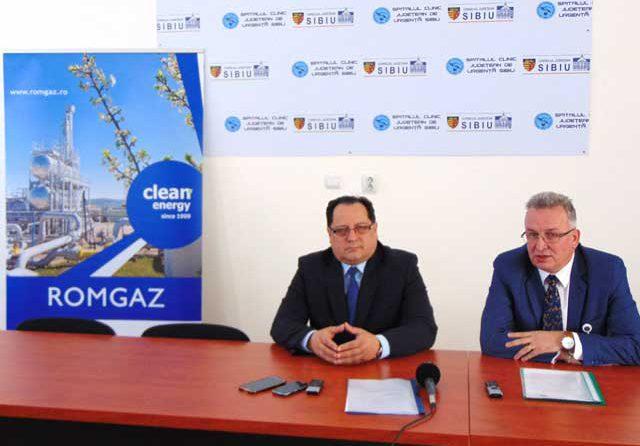 SCJU Sibiu a primit o sponsorizare de 980.000 de lei din partea Romgaz pentru achiziționarea de echipamente medicale performante