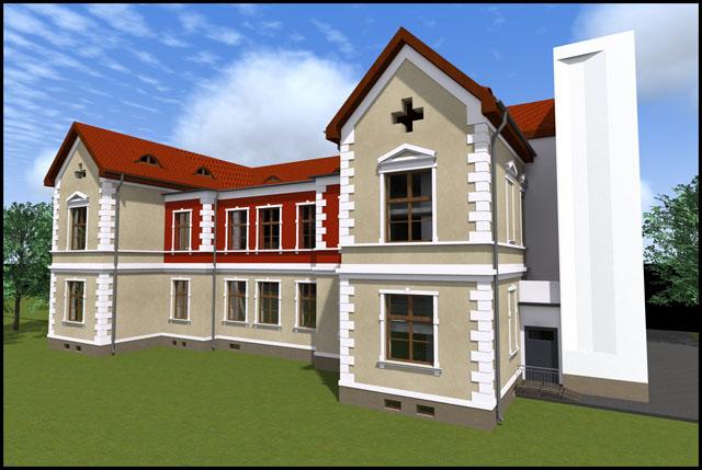 Pavilionul secției Clinice O.R.L a Spitalului Județean, în plin proces de modernizare și extindere