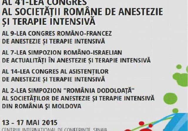Siguranța pacientului și a calității îngrijirilor, dezbătute de anesteziștii SCJU Sibiu la Congresul Societății Române de Anestezie și Terapie Intensivă