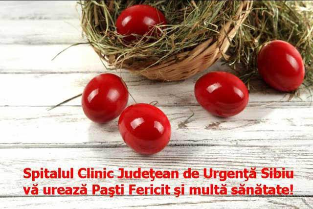 Informare program SCJU Sibiu în perioada sărbătorilor de Paşti