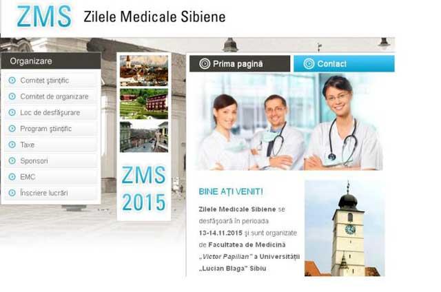 Medicii SCJU Sibiu participă la Zilele Medicale Sibiene 2015
