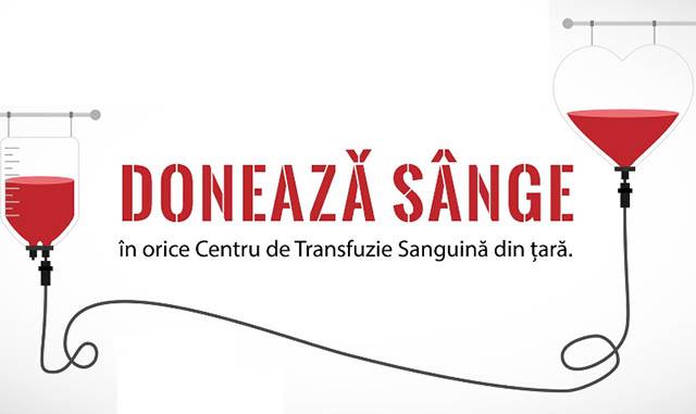 Spitalul Clinic Judeţean de Urgenţă Sibiu și Centrul de Transfuzie Sanguină Sibiu solicită sprijinul populaţiei în vederea DONĂRII DE SÂNGE și PLASMĂ HIPERIMUNĂ